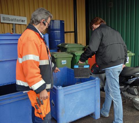 Boende i Fyrstadsregionen lämnade 850.000 kilo farligt avfall till återvinning