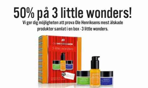 Skincity Weekend Picks – 50% på Ole Henriksens kit 3 Little Wonders Gäller till söndag kl 24.00
