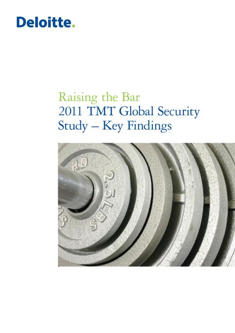 Deloitte TMT Security Survey 2011