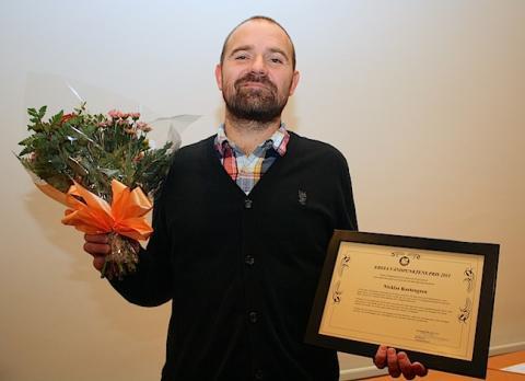 Nicklas Kartengren får Ersta Vändpunktens Pris