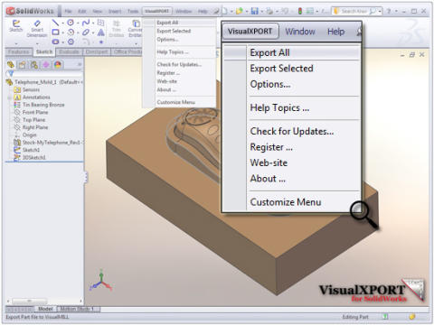 Mecsoft on julkaissut VisualXPORT for SolidWorks ohjelmiston