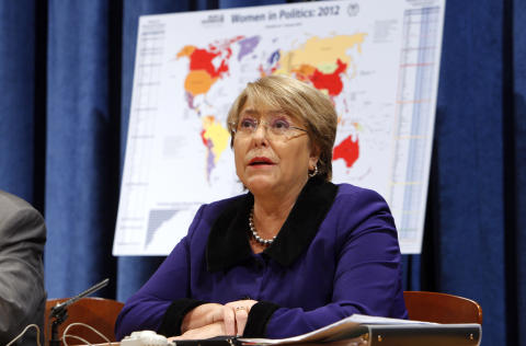 Michelle Bachelet, sjef for UN WOMEN