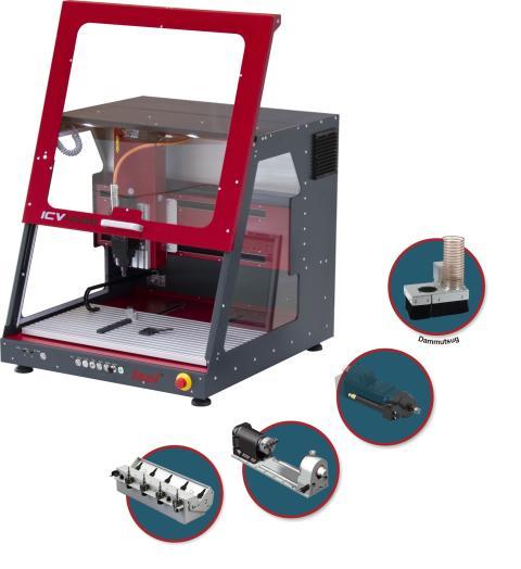 ICV 4030 - En kompakt servostyrd Isel CNC-maskin för t.ex fräsa, mäta, borra eller dosera.
