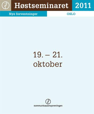 Mynewsdesk skal på Høstseminaret 2011 – skal du?