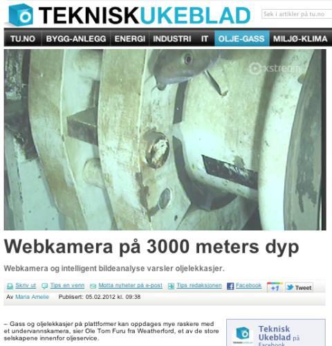 Faksimile fra Teknisk Ukeblad