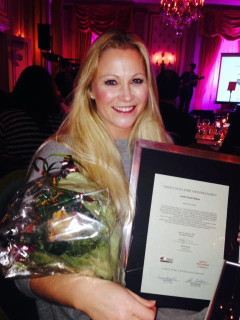 Anett Thulin Røkke fra Nordic Choice Hotels ble kåret til bransjens beste unge leder da HSMAI prisen ble delt ut tirsdag 22. oktober.