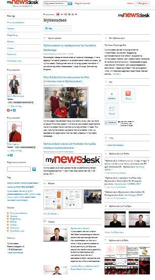 Mynewsdesks social media newsroom