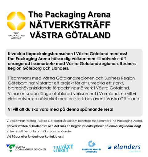 The Packaging Arena Nätverksträff Västra Götaland! - Sista chansen!