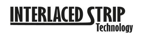 Logotype Interlaced strip technology