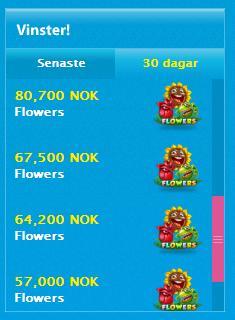 Vann 526 000 kr på sloten Flowers