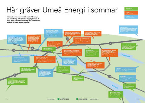 Umeå Energi investerar i Umeås infrastruktur – här gräver vi i sommar