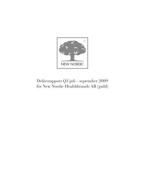 Delårsrapport Q3 2009
