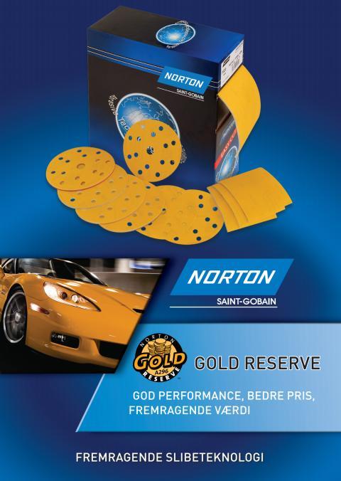 Nyt slibesortiment Gold Reserve til lak og fylder