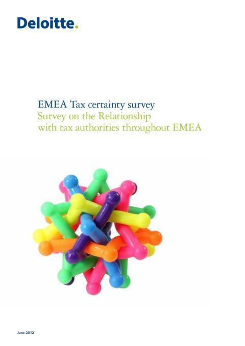 Deloitten selvitys: EMEA Tax certainty survey