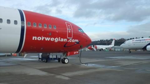 Norwegian har overtatt nytt jubileumsfly fra Boeing