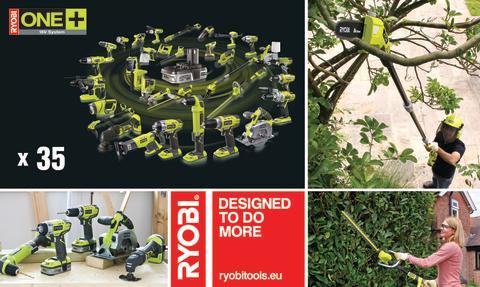 Nå nye højder med de 2 nye havemaskiner i RYOBI® One Plus 18 volt serien