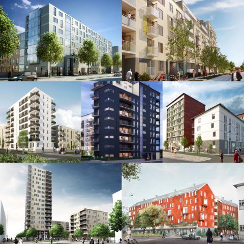 Nu byggs ytterligare 400 nya lägenheter i Kvillebäcken