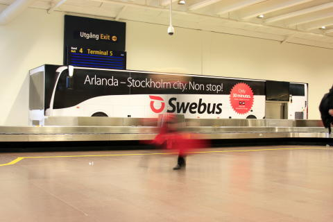Buss bagageband terminal 5 Arlanda
