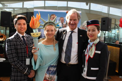 Norwegian's first ever intercontinental flight departed for New York today