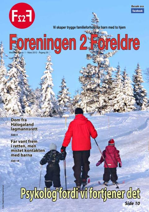 Foreningen 2 Foreldre, medlemsblad nr 1-2012