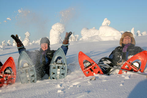 Snowshoes Give You Float!