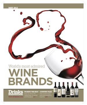 "Concha y Toro har fått utmärkelsen ""World's Most Admired Wine Brands 2012"" av Drinks International"