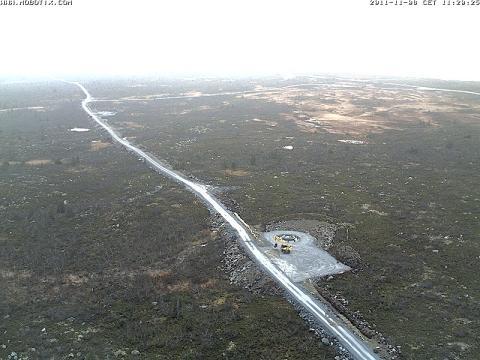 Nu är det möjligt att från ovan följa framväxten av BlaikenVinds vindkraftpark
