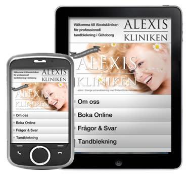 Om mobil marknadsföring – Alexiskliniken nu som mobil app.