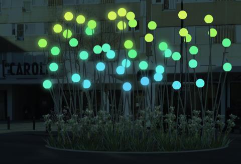Vinnande förslaget i tävlingen om ljuskonstverk i kv. Caroli