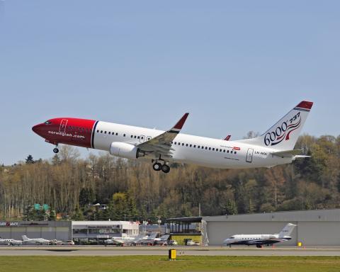 737-800 Boeings jubileumsflygplan nr 6000 till Norwegian
