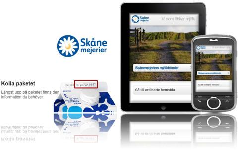 Om mobil app, Android, iPad – Skånemejerier i mobilen.