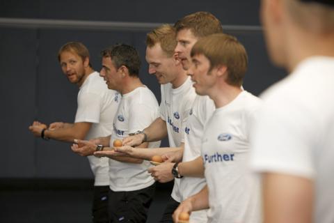 Ford WRC rallitiimiläiset ottivat mittaa toisistaan