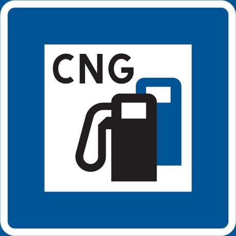 CNG skylt