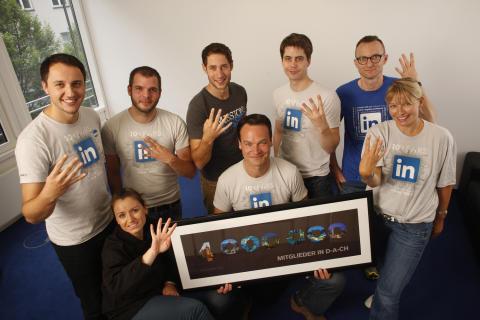 LinkedIn wächst:  4 Millionen Nutzer setzen im deutschsprachigen Raum auf das Business-Netzwerk