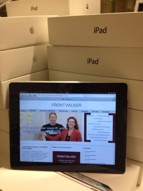 Frontwalker ger medarbetare iPad som arbetsredskap