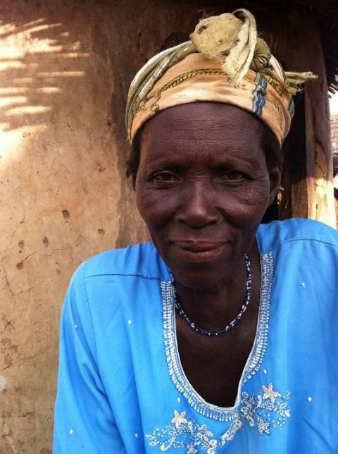 Amina Jambedu från Nasuan, Gambaga Camp, Ghana