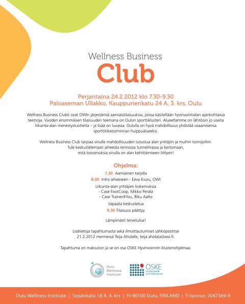 Wellness Business Club 24.2 Oulu