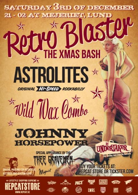 Årets storta rock'n'roll-Julfest på Mejeriet i Lund 3 december