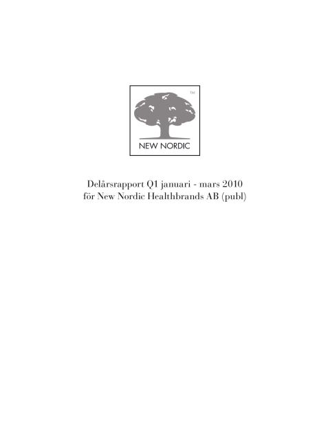 Delårsrapport Q1 2010