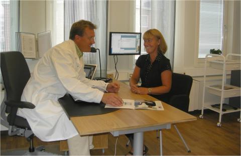 Konsultation med läkare