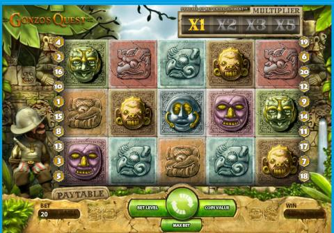 Gonzo´s Quest video slot at Vera&John online casino