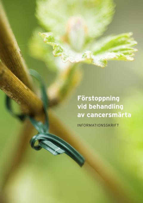 Förstoppning vid behandling av cancersmärta – informationsskrift