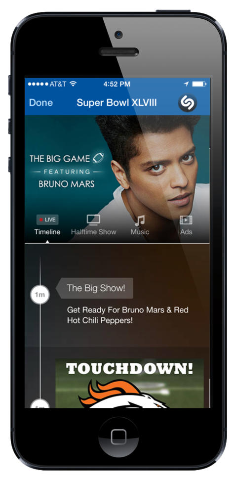 Shazamable Super Bowl Broadcast Drives Engagement
