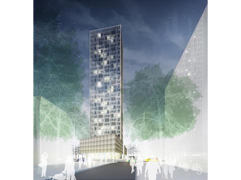 AB Bostäder i Borås och Harry Sjögren AB tecknar samarbetsavtal om utvecklande och byggande av Borås nya höghus i kvarteret Vitsippan