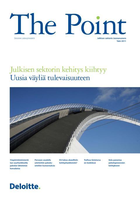 Deloitten sidosryhmälehti The Point, julkisen sektorin teemanumero 2011