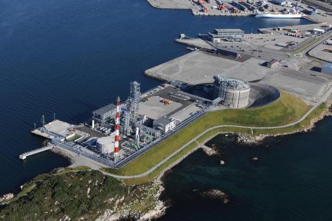 Skangass LNG plant in Risavika, Stavanger