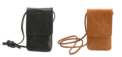 Lædertaske med halsrem til mobil – Gear by Carl Douglas