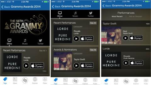 Shazam Predicts 2014 Grammy Winners