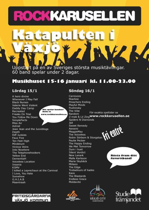Uppstart av året Rockkarusell - Sveriges största musiktävling