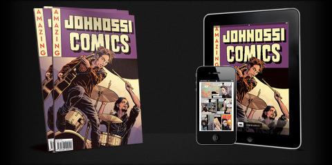 Idag släpps Johnossi Comics - som tidning och som Ipad applikation!